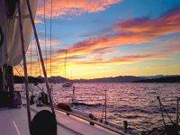 In barca a fine giornata