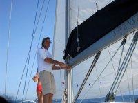 Near the sail