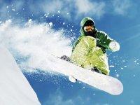 Acrobatics with the snowboard