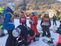 Prime lezioni di snowboard