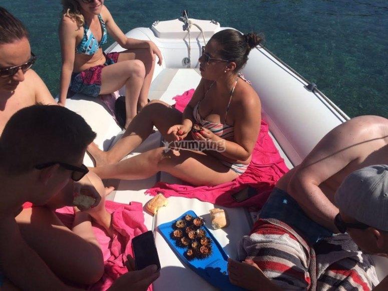 Mangiare sulla barca