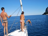 Diving from the boat