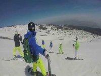Snowboard e gopro