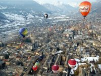 Flying in a hot-air balloon