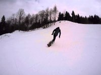 Escursione in snowboard