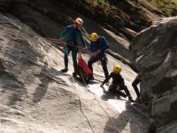Canyoning descent phases