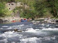 Rafting sul torrente Lima