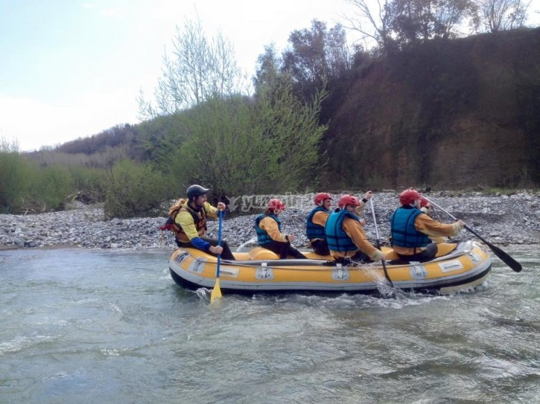 Rafting in company