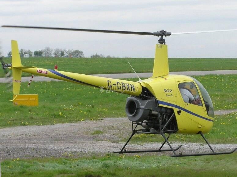 elicottero in terra