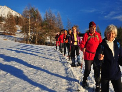 Snowshoeing for one person Parco del Gran Paradis