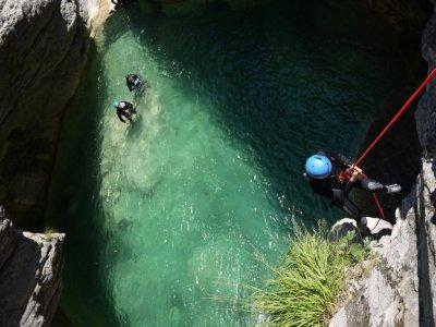 Canyoning Gioco al Riou de la Bollene