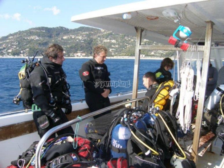 Prima dell'immersione