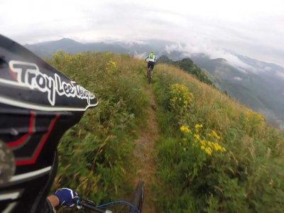 Gionata in Montain Bike nel Parco dell' Antola