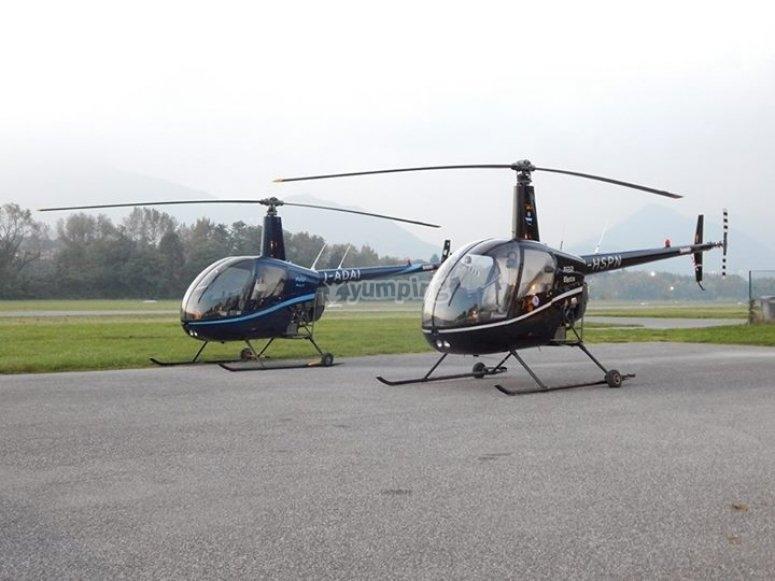 La nostra coppia di elicotteri