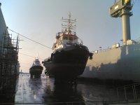 Intervento in bacino carenaggio galleggiante