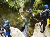 canyoning di gruppo