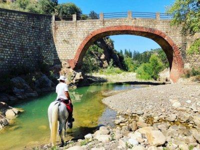 Horse trekking along the Pollina River 2 days