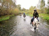 Galoppando nel fiume
