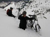 MTB nella neve