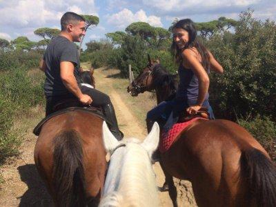 Passeggiata a cavallo e cena San Valentino Roma