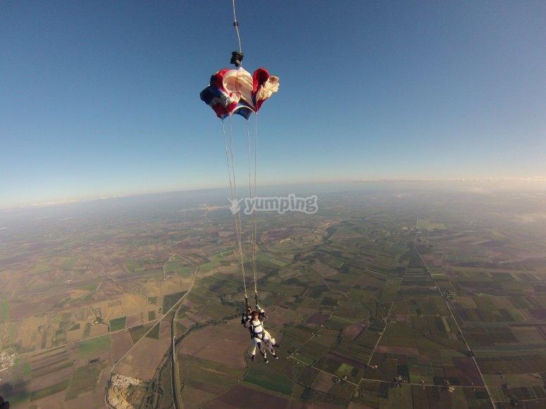 Il paracadute si apree