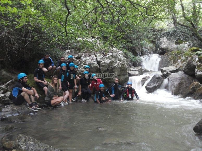 Un bagnetto nel torrente Finocchia