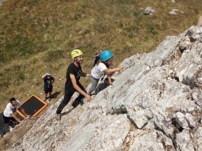 Imparando ad arrampicare