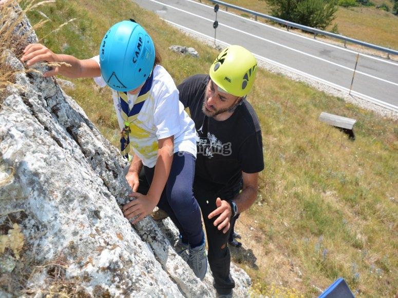 Lezione di arrampicata