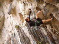 Durante l'arrampicata!