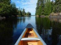 La punta della canoa
