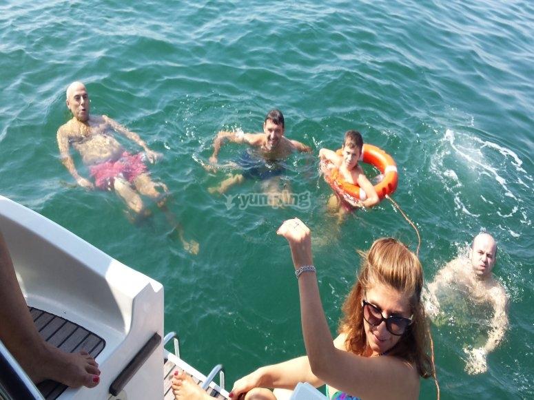 Bagno al largo di Cesenatico