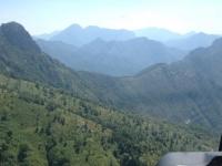 foto dall'alto dell'elicottero