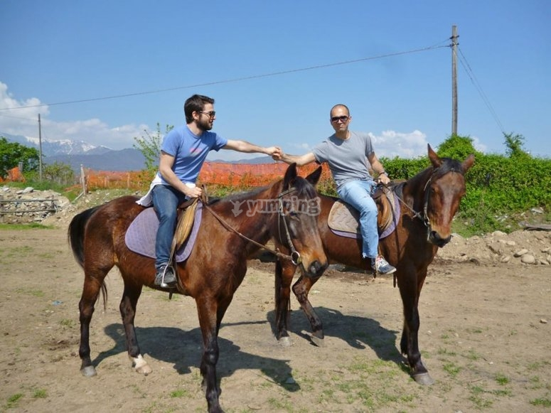 Due amici a cavallo