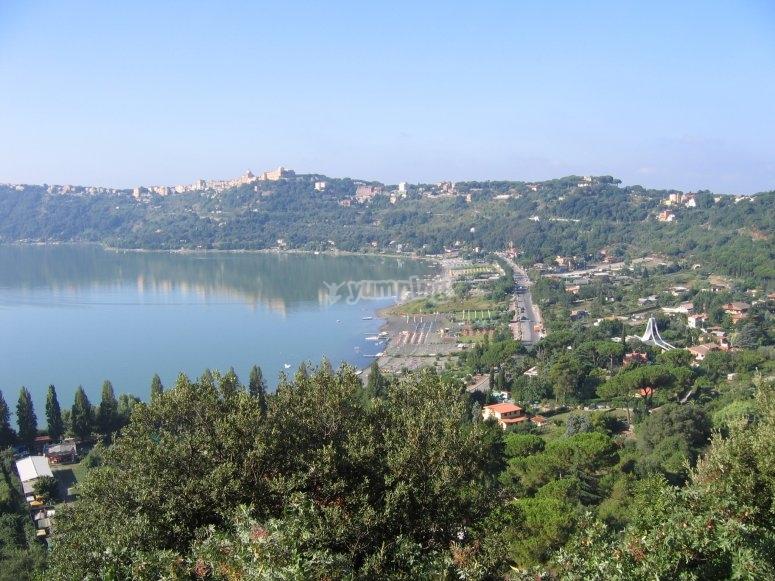 The lake of Castelgandolfo
