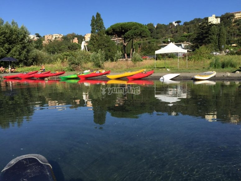 Our kayaks ready