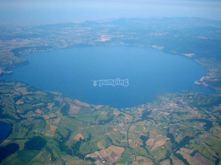 Aerial view on Lake Bracciano