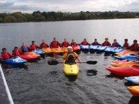Everyone in a canoe
