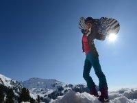 con il sole lo snowboard è meraviglioso
