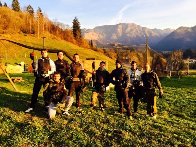 Partita di paintball con 500 colpi a Bergamo