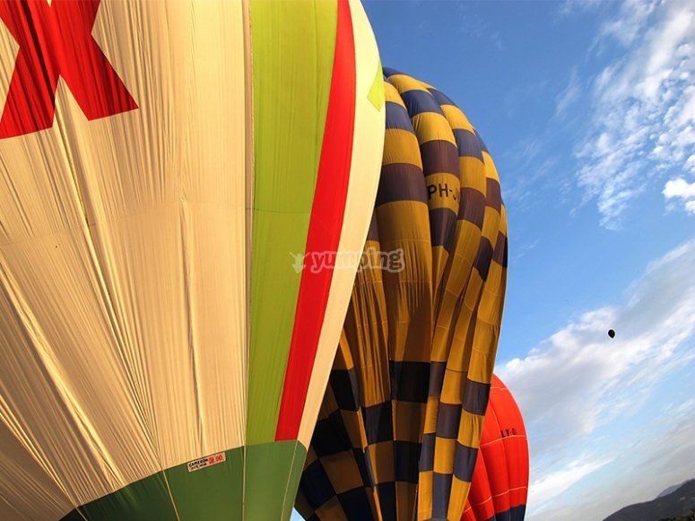 hot air balloon giro in mongolfiera