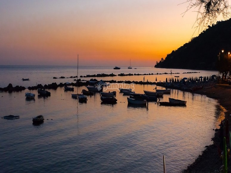 Splendid sunset over the bay