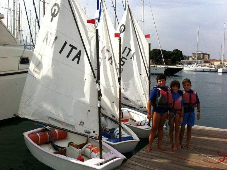 Allievi del corso di vela