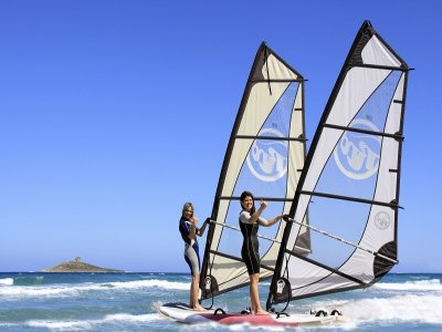 Corso di windsurf all' Isola delle Femmine