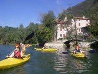 Canoe lessons on the Brenta