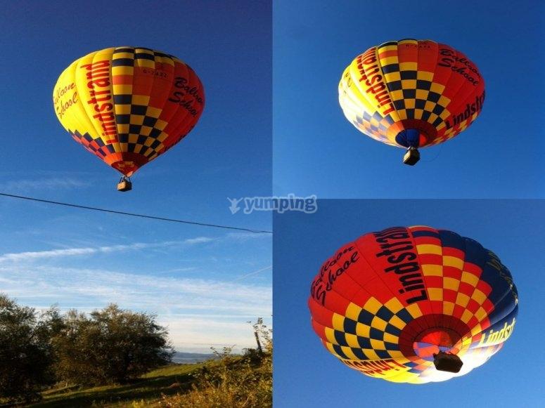 La nostra mongolfiera in volo