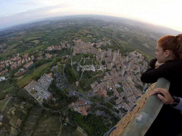 La Toscana dall'alto