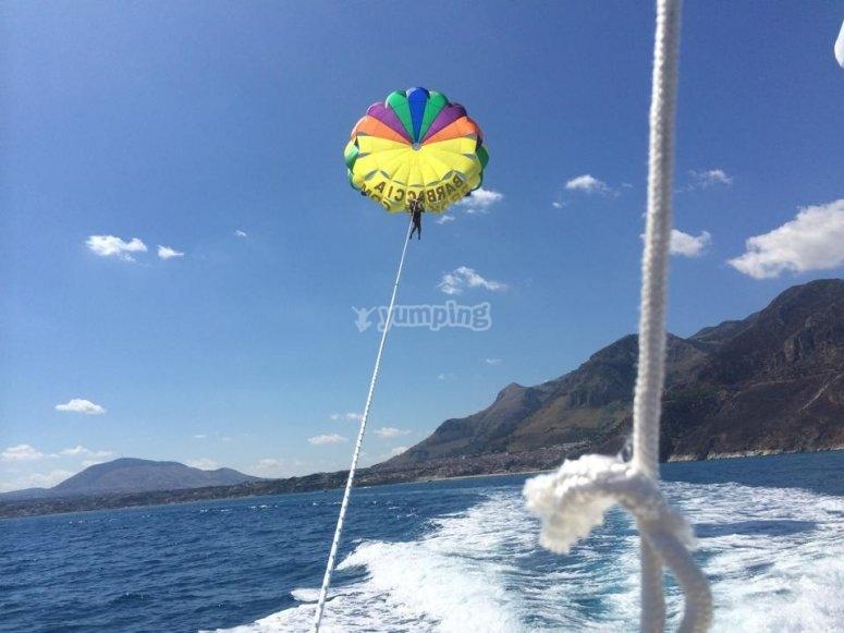 Parafly in flight