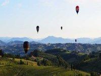 volo delle mongolfiere nel Chianti