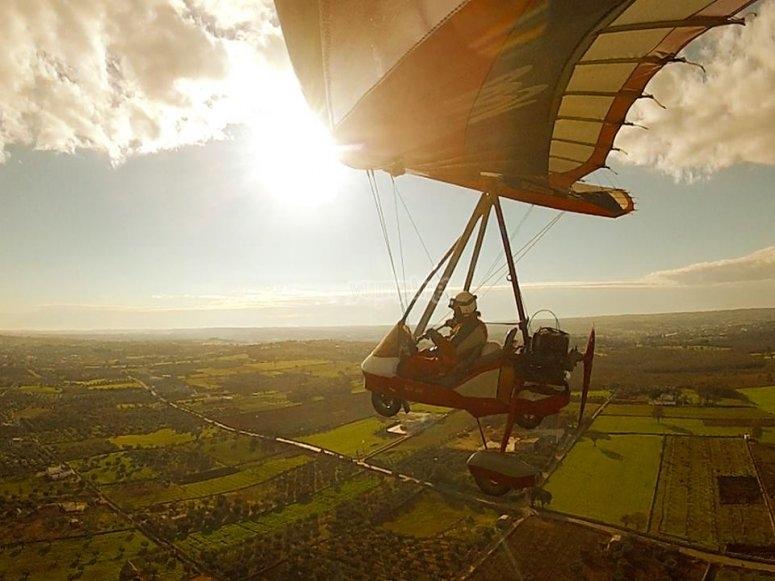 Volo in deltaplano