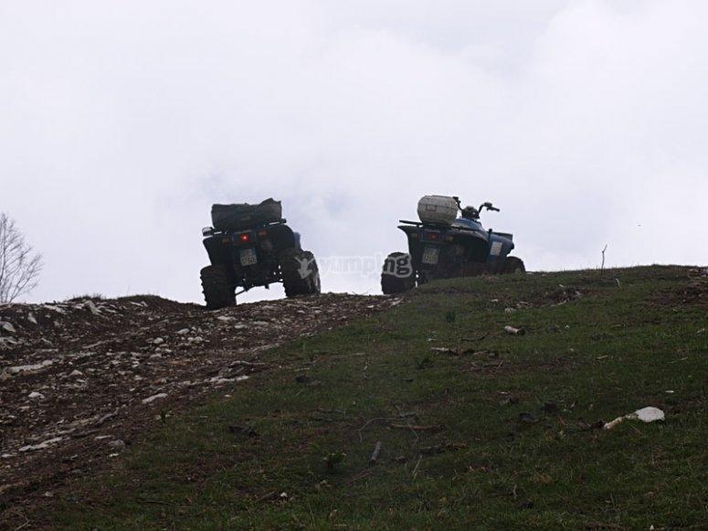 I quad sulla collina